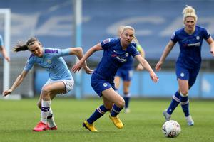 Manchester City and Chelsea were set for a thrilling title race in the WSL (Richard Sellers/PA)