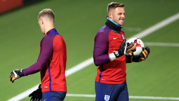 Jack Butland, right, called Joe Hart after the latter was left out of the England World Cup squad