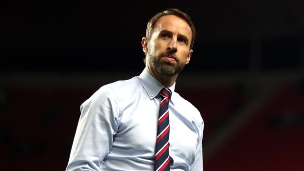 England manager Gareth Southgate is considering changing his defensive system against Bulgaria (Nick Potts/PA)