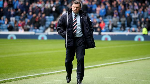Rangers manager Graeme Murty has been relieved of his duties