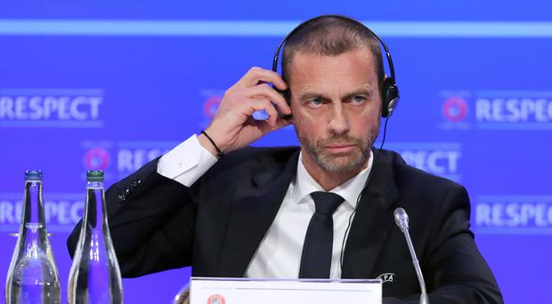 UEFA president Aleksander Ceferin says VAR needs to be speeded up and made clearer (Niall Carson/PA)