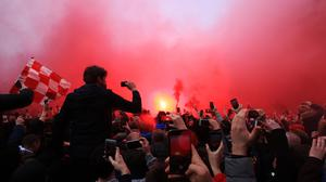Manchester City received a hostile welcome as they arrived at Anfield