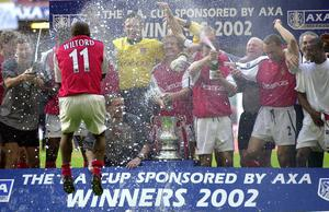 The Gunners won the FA Cup for a seventh time when they beat Chelsea 2-0 in the 2002 final (Rui Vieira/PA)