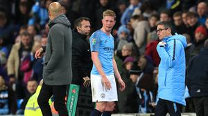 Kevin De Bruyne suffered an injury against Fulham (Mike Egerton/PA)