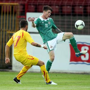 Liam McAlinden, right, wants to represent Ireland in the future