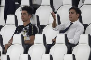 Juventus' Cristiano Ronaldo, left, and Paulo Dybala were rested by boss Maurizio Sarri for the final Serie A match of the season against Roma (AP Photo/Luca Bruno)