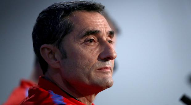Barcelona manager Ernesto Valverde rejected suggestions he tried to spare players ahead of facing Real Madrid (John Walton/PA)
