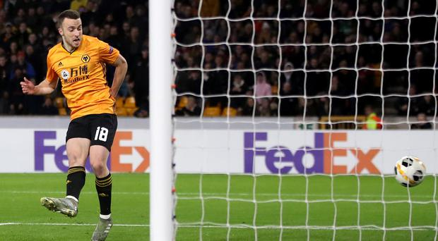 Wolves' Diogo Jota completed a hat-trick against Besiktas (Nick Potts/PA)