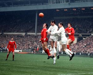 Hunter formed a formidable defensive partnership with Jack Charlton at Leeds (PA)