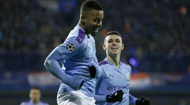 Gabriel Jesus, front, admits he has been affected by the pressure at Manchester City (AP Photo/Darko Bandic)