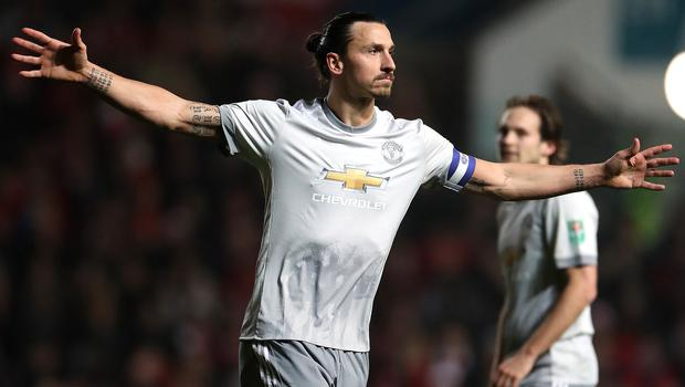 Zlatan Ibrahimovic joined Galaxy from Manchester United (Nick Potts/PA)