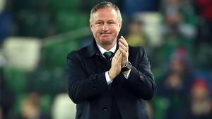 Michael O'Neill will now focus solely on Stoke (Liam McBurney/PA)