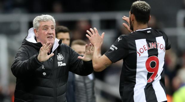 Steve Bruce hopes Joelinton can kick on after ending his goal drought against Rochdale (Owen Humphreys/PA)