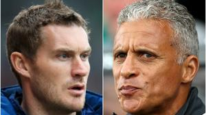 Matt Taylor and Keith Curle meet on Monday (Mike Egerton/Tim Goode/PA)