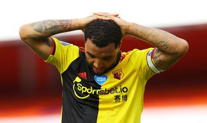 There was disappointment for Troy Deeney and Watford (PA)
