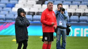 Sam Allardyce was joint-manager of the England team at Soccer Aid for Unicef alongside TV presenter Susanna Reid, left, for the event last year