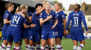 Chelsea have been awarded the Women's Super League title on points per game (Tess Derry/PA)