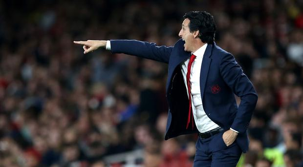 Arsenal manager Unai Emery has responded to critics over his tenure at the Emirates (Steven Paston/PA)