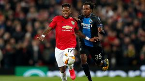 Percy Tau, right, had European experience with Club Brugge (Martin Rickett/PA)