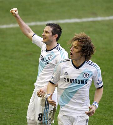Former Chelsea team-mates Frank Lampard, left, and David Luiz, right, will battle it out for FA Cup glory this weekend (Peter Byrne/PA)