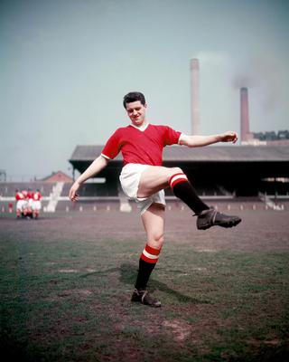 Manchester United's Tommy Taylor scored a hat-trick in a 5-1 World Cup qualifier victory over Ireland in 1957 (PA)
