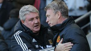Steve Bruce and David Moyes come up against each other on Sunday (Anna Gowthorpe/PA)