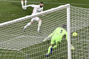 Karim Benzema could not earn Real all three points (Alvaro Barrientos/AP)