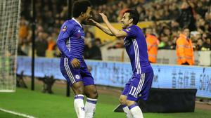 Frank Lampard hopes Willian and Pedro will be available for the FA Cup final and Chelsea's Champions League clash with Bayern Munich.