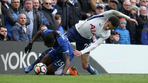 Chelsea's Victor Moses, left, and Tottenham's Dele Alli could face each other this weekend (Steven Paston/PA)