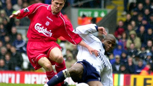 Michael Owen, in action in 2001, when Liverpool won four cup finals and he claimed the Ballon d'Or (Rui Vieira/PA)