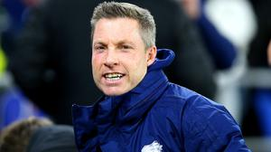 Neil Harris has made a rallying cry to his players ahead of their play-off semi-final second leg (Nigel French/PA)
