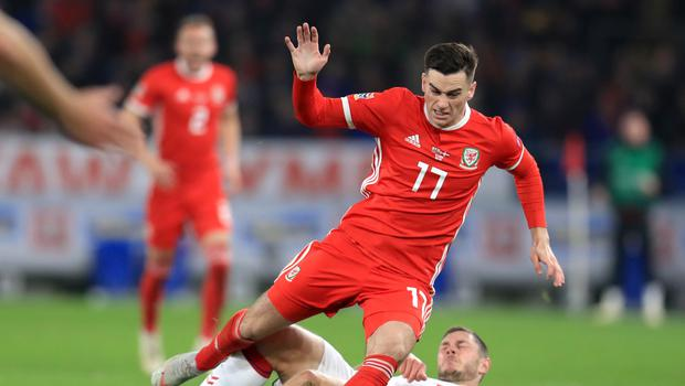 Tom Lawrence (left) has been selected for Wales duty despite facing a drink-driving charge next month (Mike Egerton/PA)