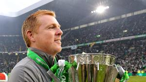 Neil Lennon is hoping for 10 titles in a row (PA)