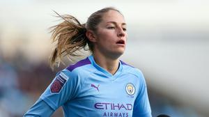 Janine Beckie has signed new contract with Manchester City Women (Barry Coombs/PA)