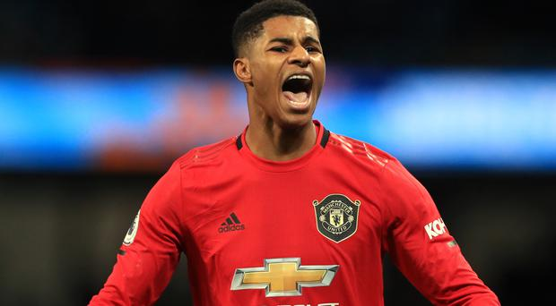 """Marcus Rashford admits the first half against Manchester City was """"not a Manchester United performance"""" (Mike Egerton/PA)"""