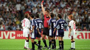 """David Beckham experienced a """"brutal"""" reaction to his 1998 red card (PA Wire)"""