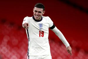 Phil Foden scored two goals on his second England start (Ian Walton/PA)