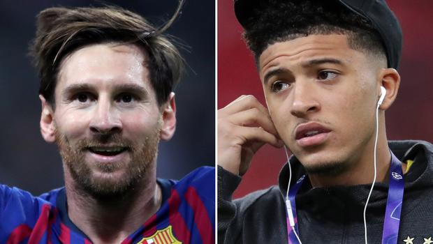 Will Lionel Messi (left) leave Barcelona for Manchester? (Nick Potts/Adam Davy/PA)