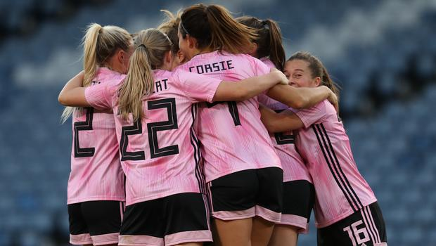 Scotland Women enjoyed a memorable day at Hampden Park (Andrew Milligan/PA)