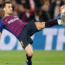 Sergio Busquets helped Barca beat Granada (Nick Potts/PA)