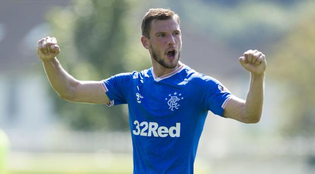Rangers' Borna Barisic got an assist in Portugal (Ian Rutherford/PA)