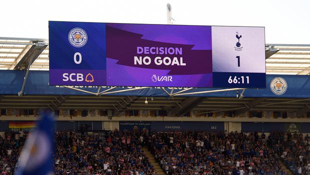 Tottenham had a goal ruled out by VAR in their defeat at Leicester (Joe Giddens/PA).
