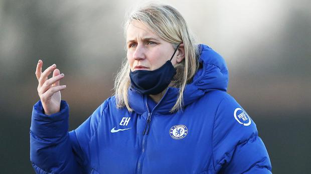 "Emma Hayes insisted she was ""grateful"" Chelsea only conceded one away goal against Wolfsburg (Tim Markland/PA)"