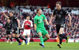 Ashley Barnes (right) had given Burnley a chance to stage an unlikely comeback at Arsenal. (Jonathan Brady/PA)