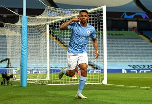 Gabriel Jesus made a goal and scored another in City's memorable triumph (Oli Scarff/PA)