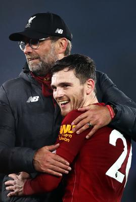 Robertson (right) and Klopp (left) share a mutual admiration (Tim Goode/PA)