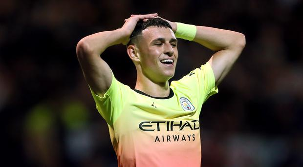 Phil Foden made his first start of the season as Manchester City beat Preston in the Carabao Cup (Richard Sellers/PA)