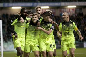 Celtic reached the William Hill Scottish Cup semi-finals after a 2-0 win (Graham Stuart/PA)