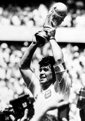 Diego Maradona captained Argentina to World Cup glory in 1986 (PA)