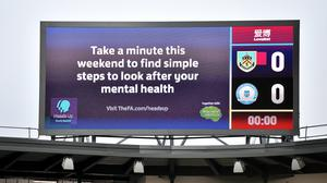 The Football Association raises awareness of mental health issues via its Heads Up campaign (Anthony Devlin/PA)